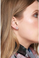 Round Druzy Post Earrings