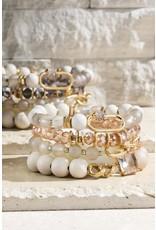 Luminous Glass and Wood Bracelet Se