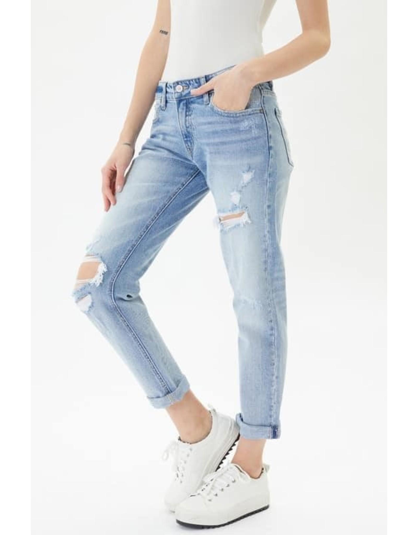 KanCan Mid-Rise Boyfriend Cut Jeans