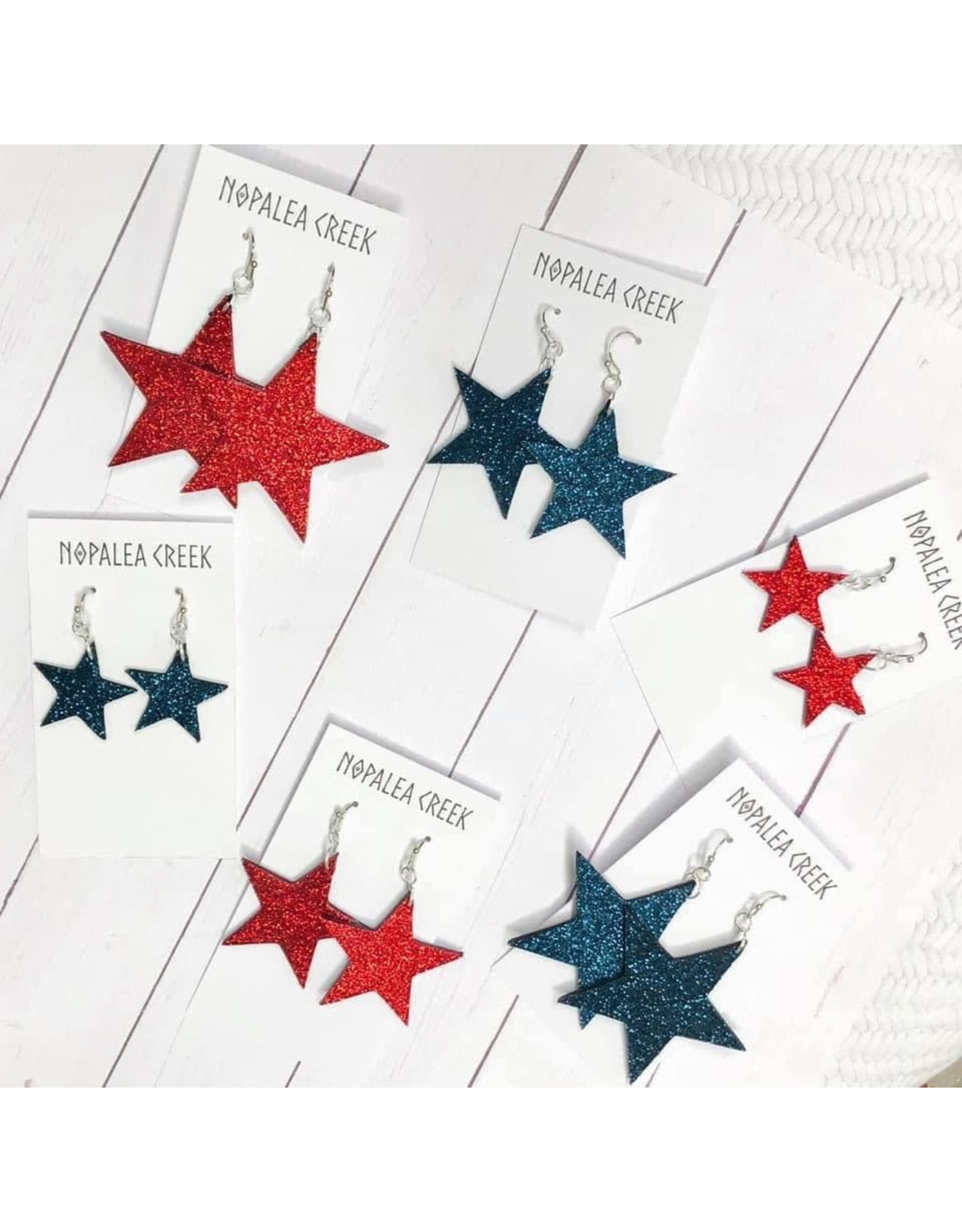 "Glittery Stars 1.5"""