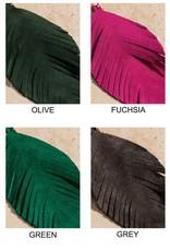 Genuine Leather Leaf Earrings
