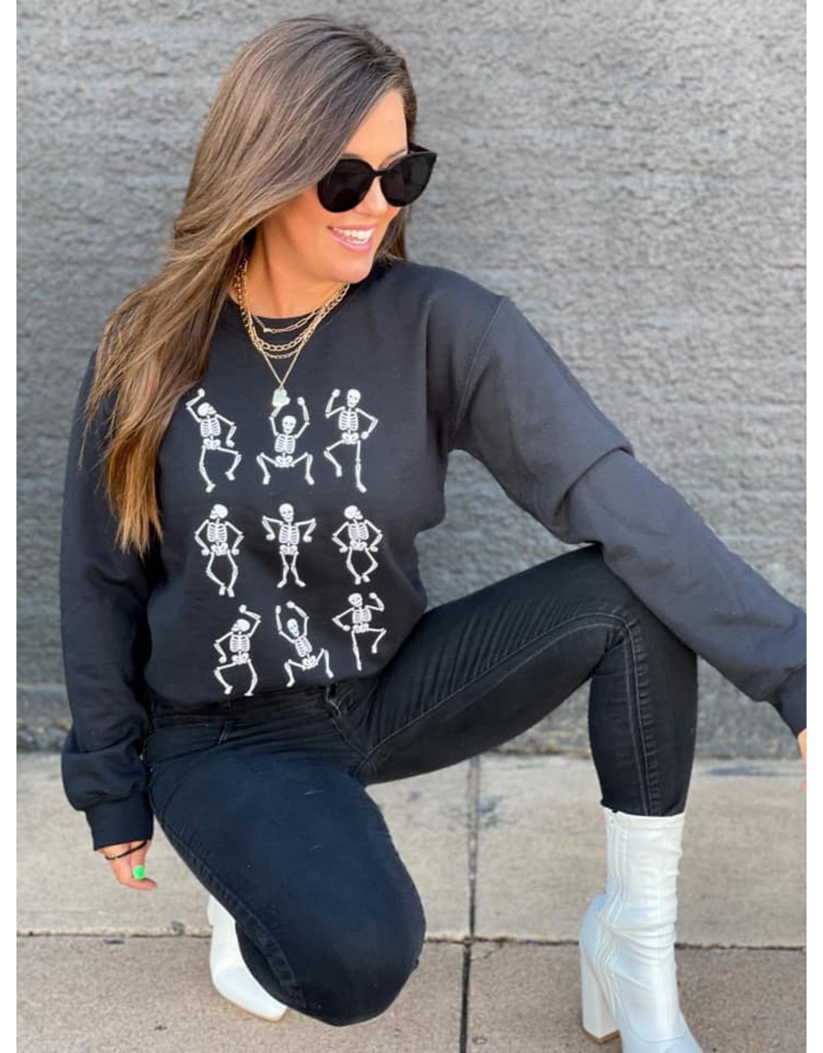 Boutique Only Dancing Skeletons Sweatshirt