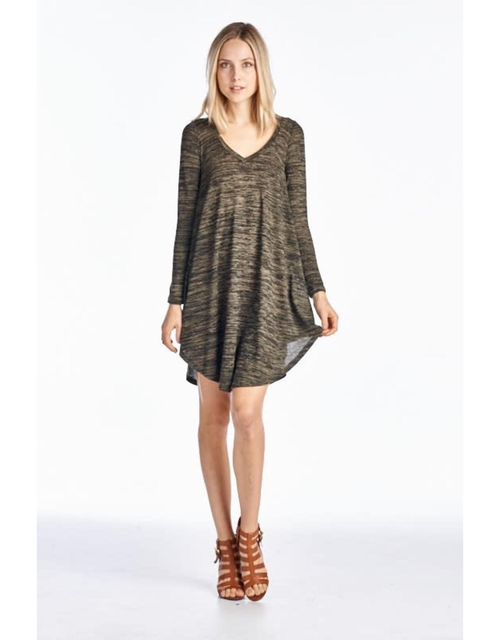 Long Sleeve Flared Bottom Dress