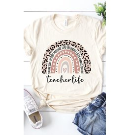 Teacher Life Rainbow Graphic Tee