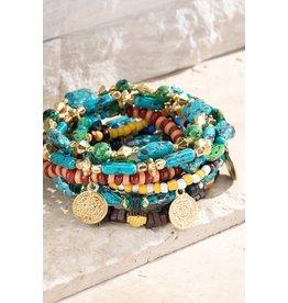 Multi Layered Semi-Precious Stone Bracelet