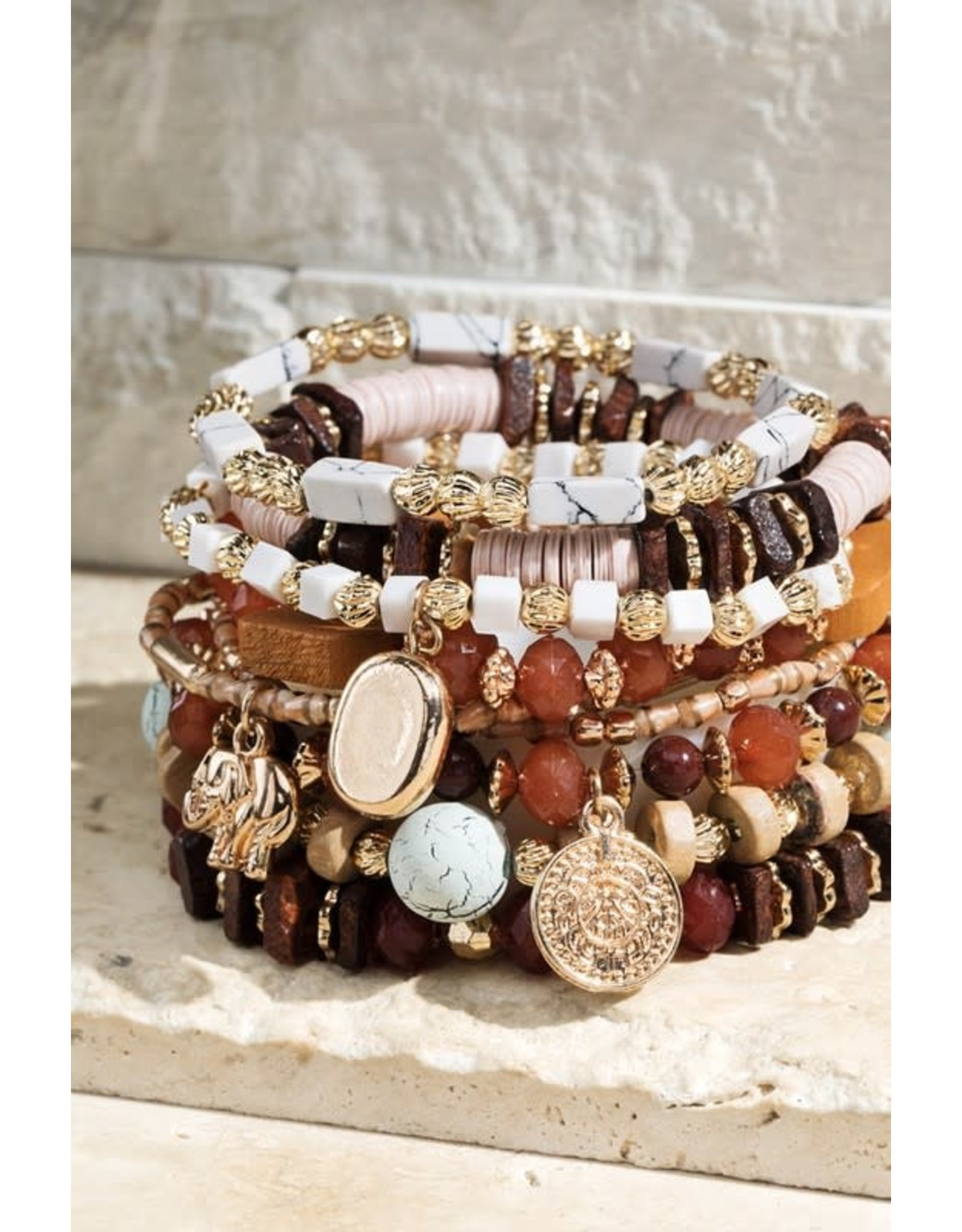 Multi-Layered Natural Stone Bracelet