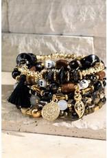 Skull Charms Beads Bracelet