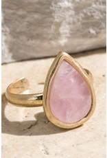 Teardrop Semi Precious Stone Ring