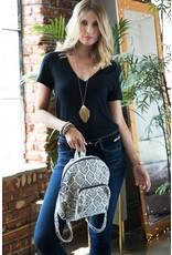 Handmade Weave Marquise Print Backpack