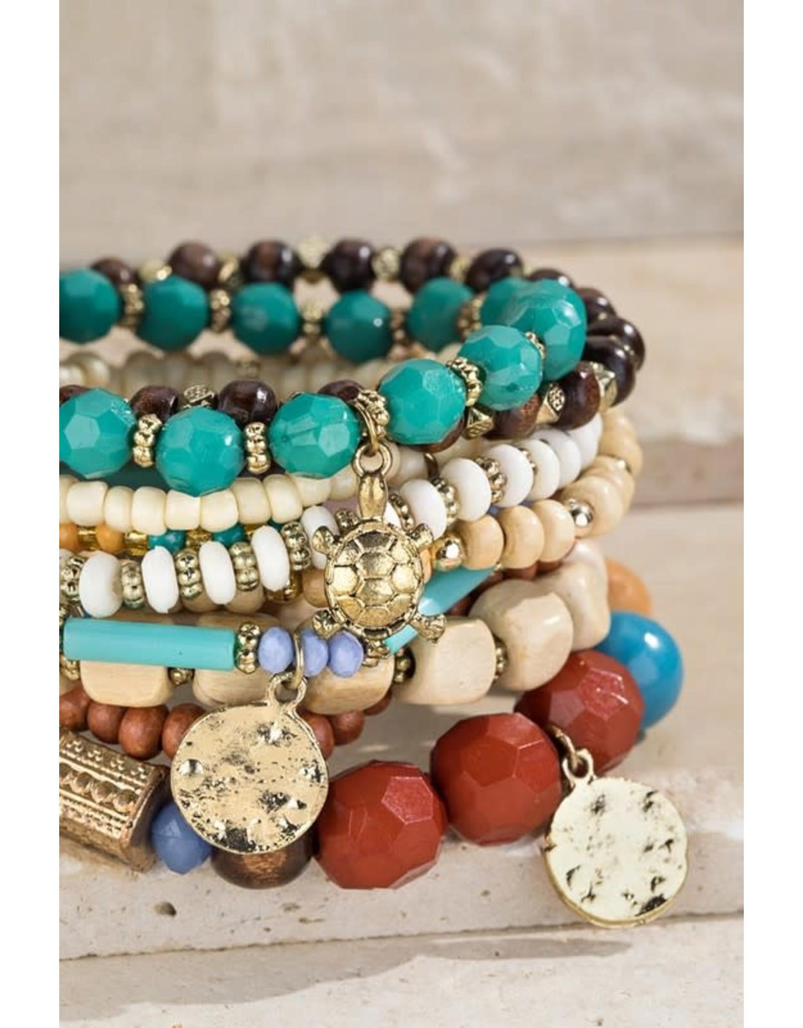 Lucky Turtle Charm Bracelet Set