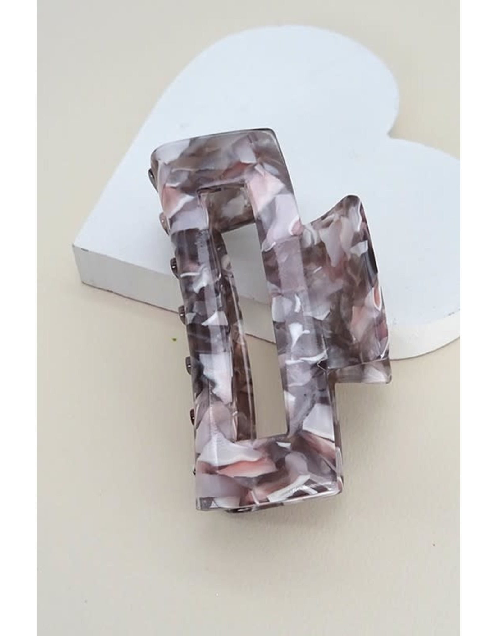 Rectangle Marble Hair Clip