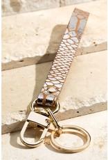 Faux Leather Metallic Animal Key Chain