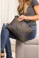 Quincey Studded Clutch Crossbody Handbag