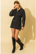 Long Sleeve Denim Shirt Dress