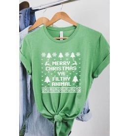 Merry Christmas Ya Filthy Animal Tee