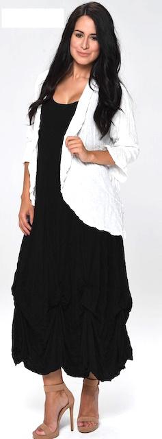 Shana 20105/5 Shana BUBBLE DRESS BLK 2XL