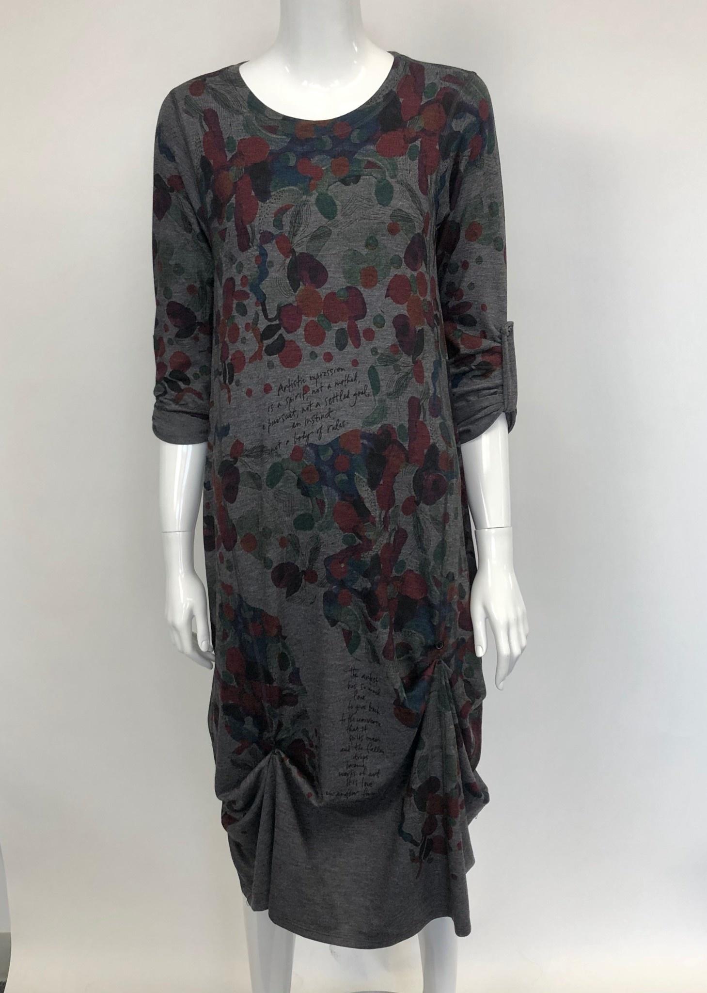 Inoah 258CH INOAH CREW NECK LONG DRESS