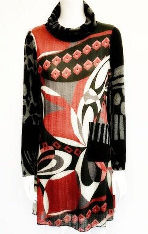 Shana 19731 SHANA COWL NECK DRESS