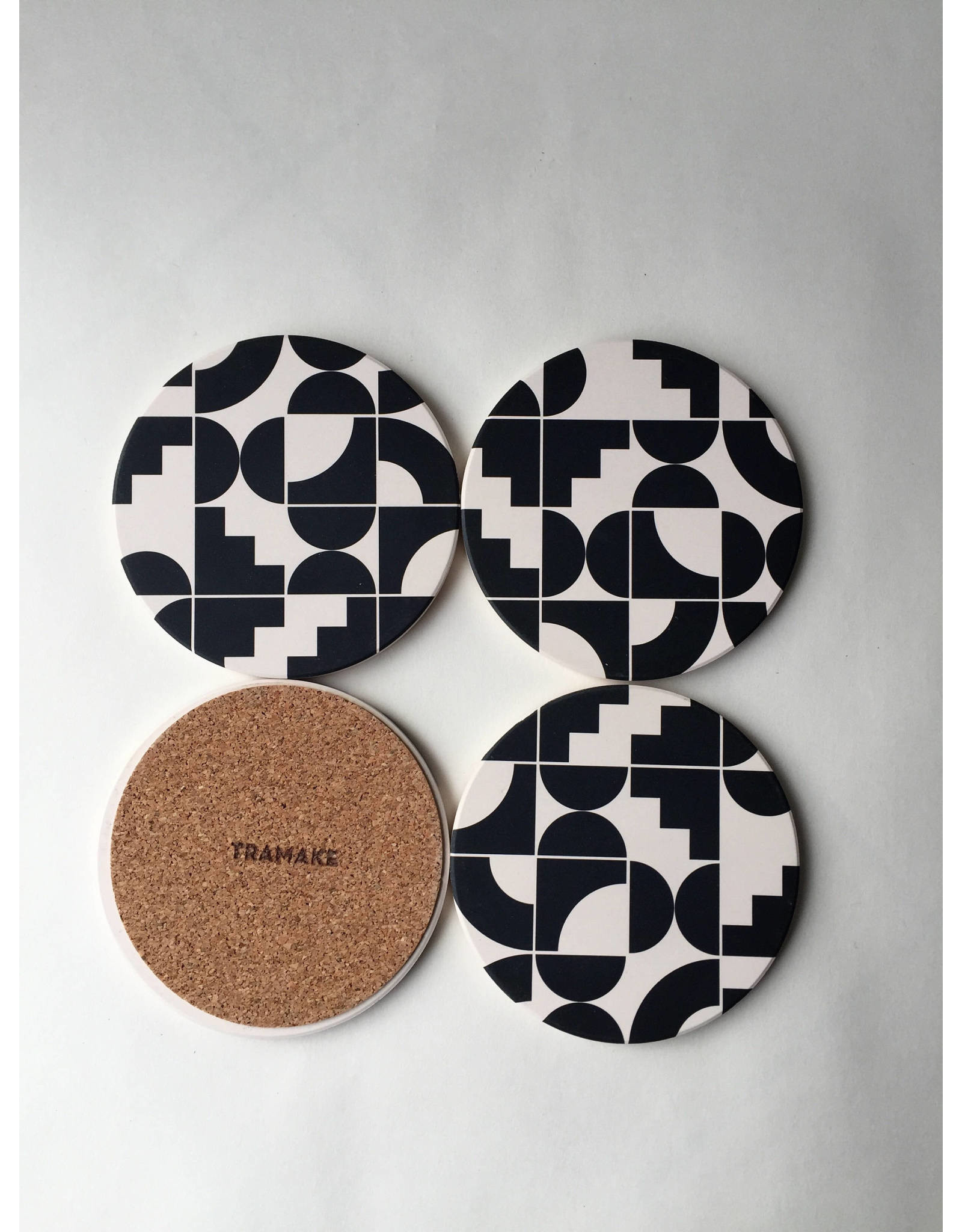 Tramake SHAPES Ceramic Coasters set of 4