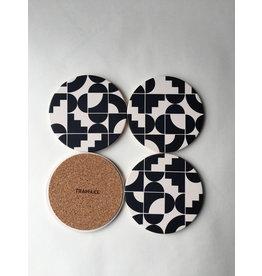 Tramake SHAPES Ceramic Coasters set of 4