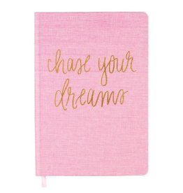 Sweet Water Decor Chase Your Dreams, Pink and Gold Journal