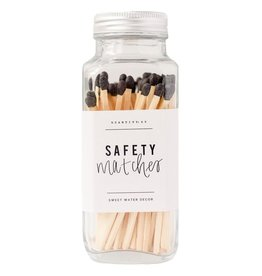 Sweet Water Decor Black Safety Matches