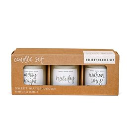 Sweet Water Decor Holiday Mini Soy Candle Set