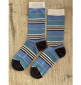 Zkano Townes Variegated Stripe Crew, Heather - M