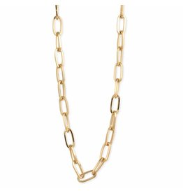 Simple Gold Oval Link Chain Necklace