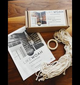 Likewoah Handmade DIY Macrame Plant Hanger Kit