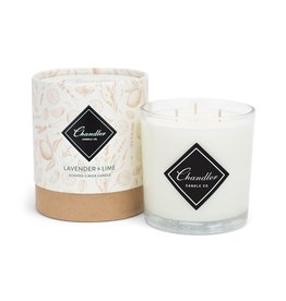Chandler Candle Company Lavender and Lime 3 Wick Candle