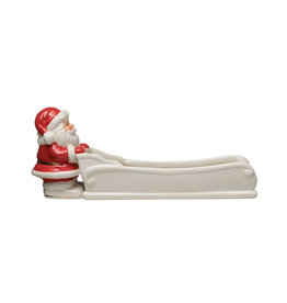 Santa and Sleigh Cracker Dish