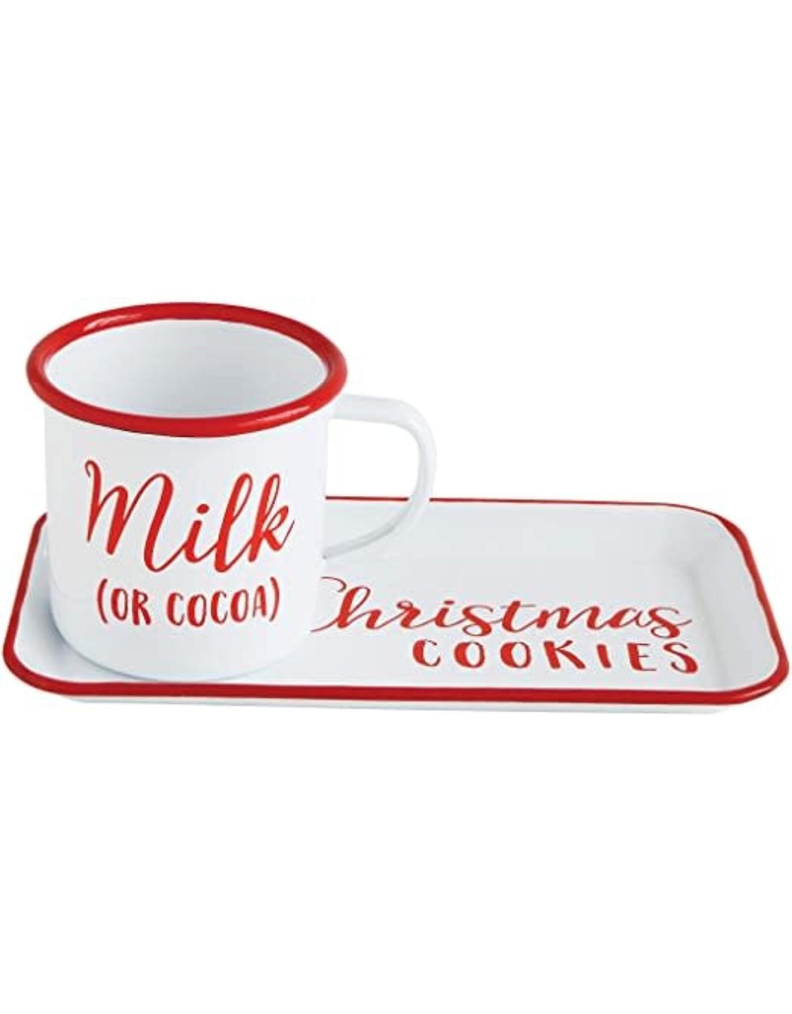 Christmas Cookie Tray with Mug, Set of 2