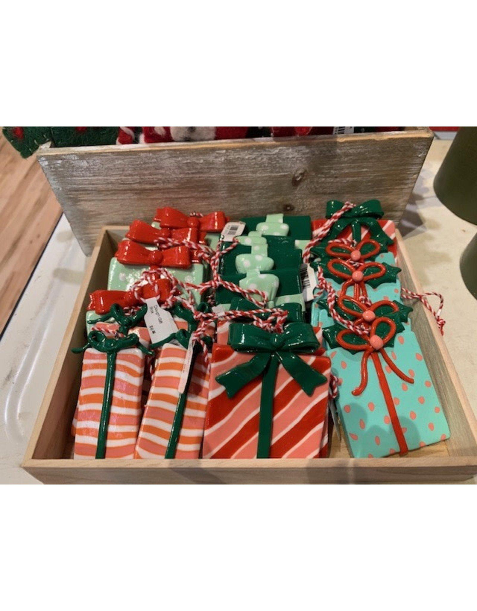 Dough Gift Box Ornament, 5 styles