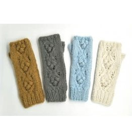 Hand Knitted Chunky Bobble Armwarmer