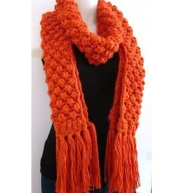 Hand Knit Bubble Textured Scarf