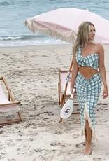 Just Bee Queen Mallorca Aqua Brown Skirt