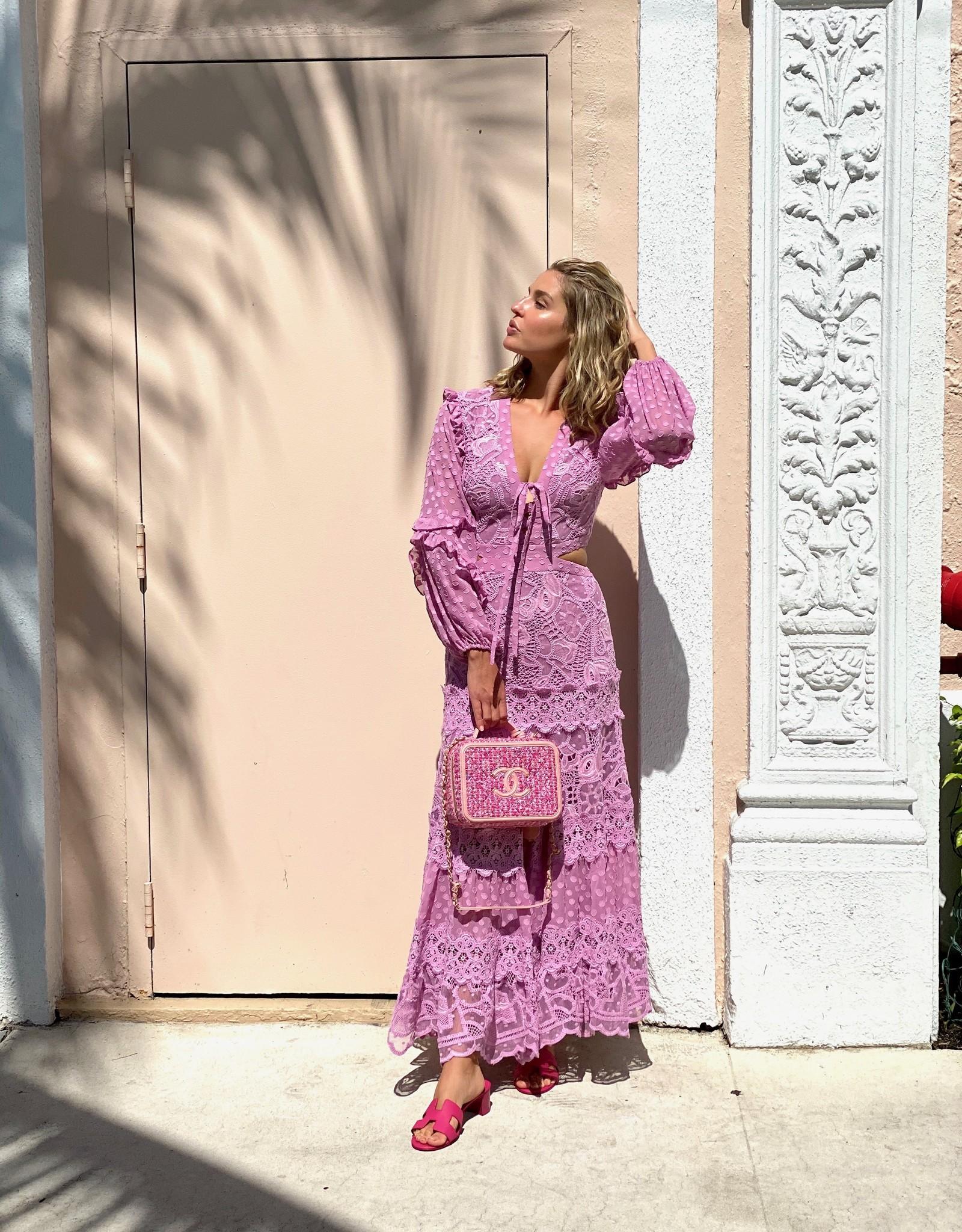 Alexis Alexis Zendaya Dress Lilac Macrame