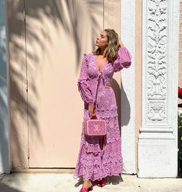 Alexis Zendaya Dress Lilac Macrame
