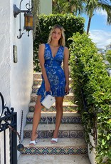 Alexis Alexis Cassara Dress Blue Palm