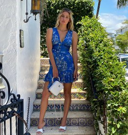 Alexis Cassara Dress Blue Palm