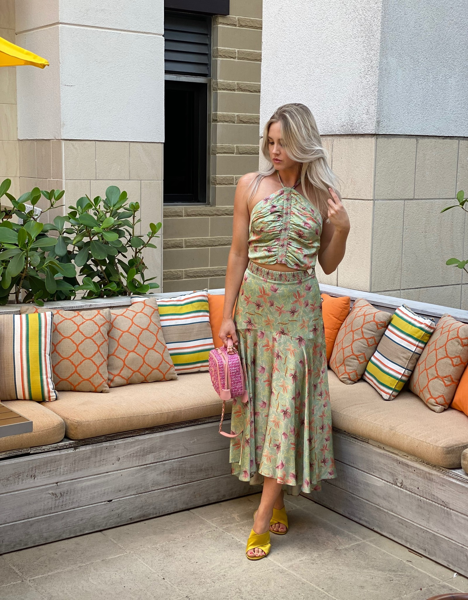 Alexis Alexis Bazli Skirt Green
