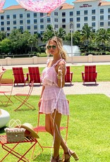 Love Shack Fancy Ruffle Mini Skirt Pink Tulip