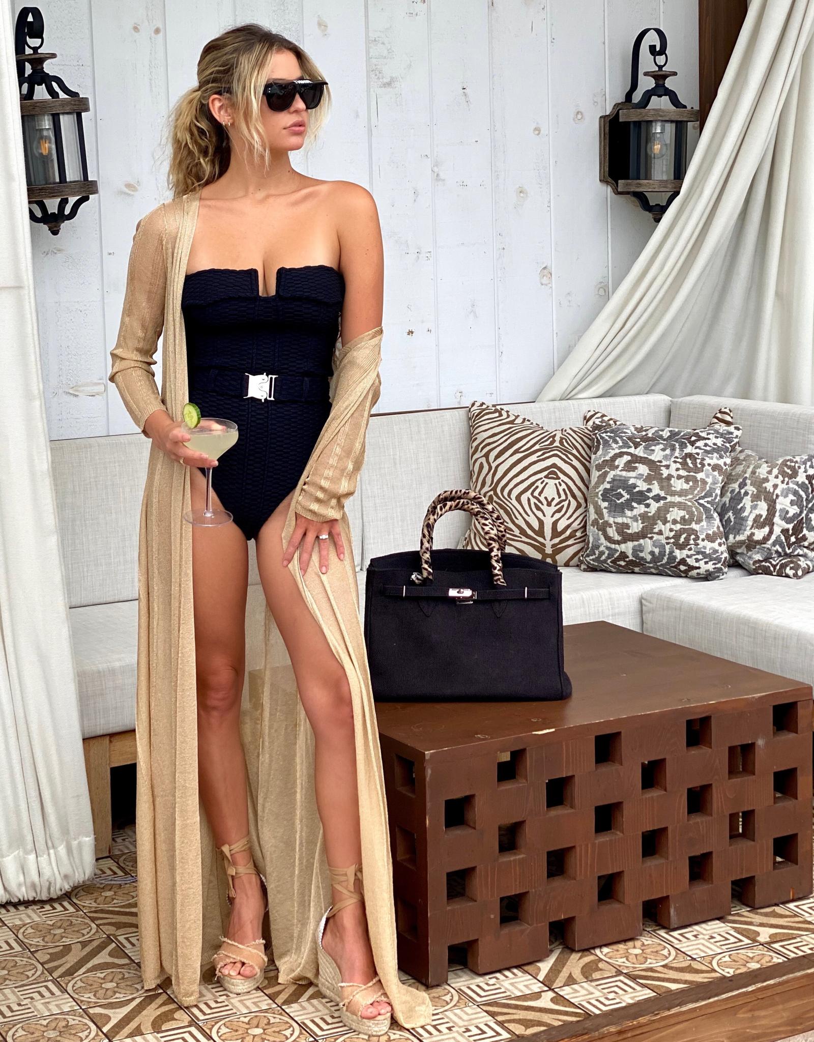 Devon Windsor Cosette Robe Gold