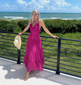 Alexis Alexis Tasha Long Dress Fuschia
