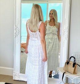 Love Shack Fancy Zinnia Skirt White