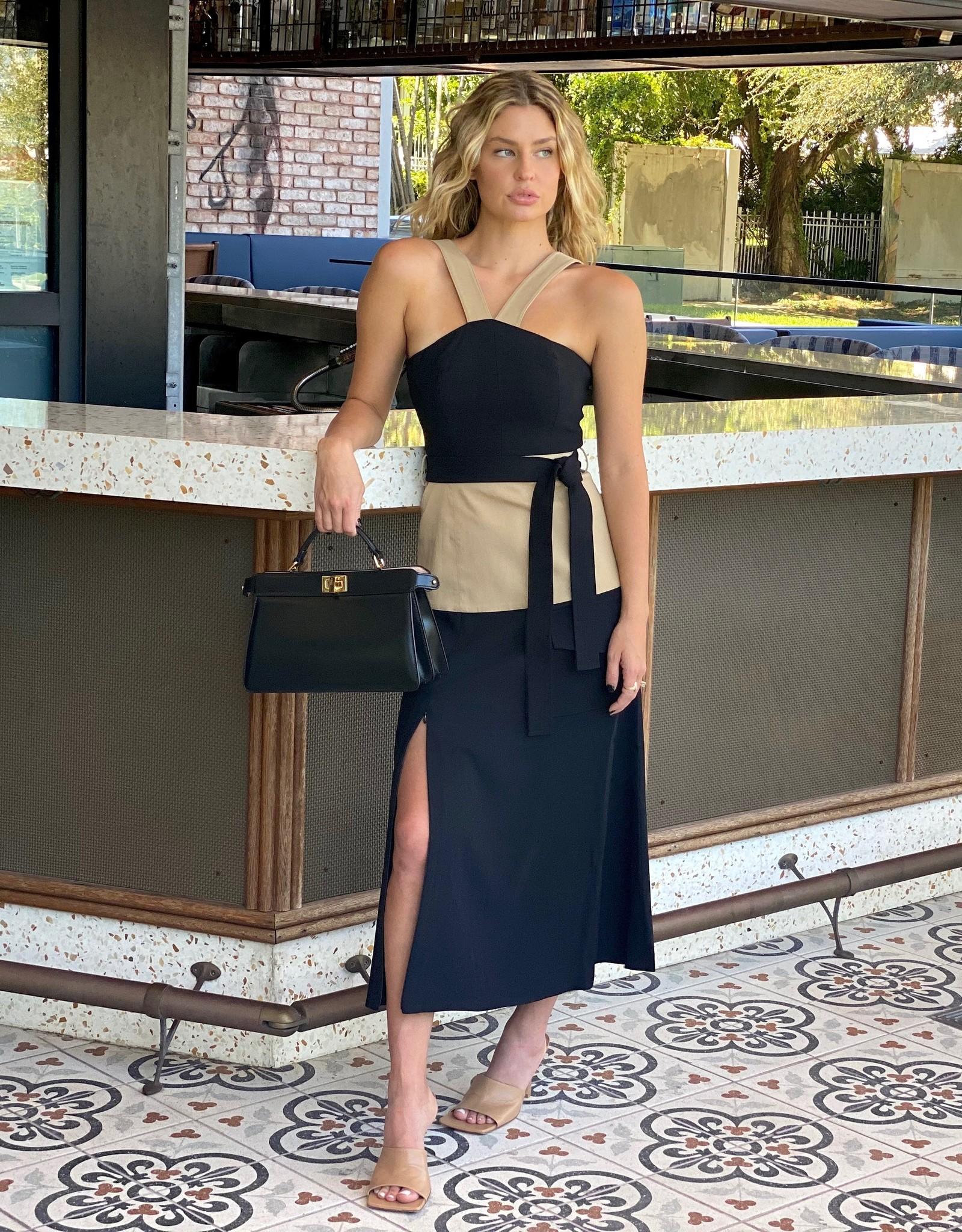 Alexis Erina Dress Tan/Black