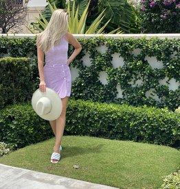 DanniJo Terry Wrap Skirt Purple