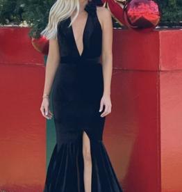 Patbo Velvet Plunge Gown