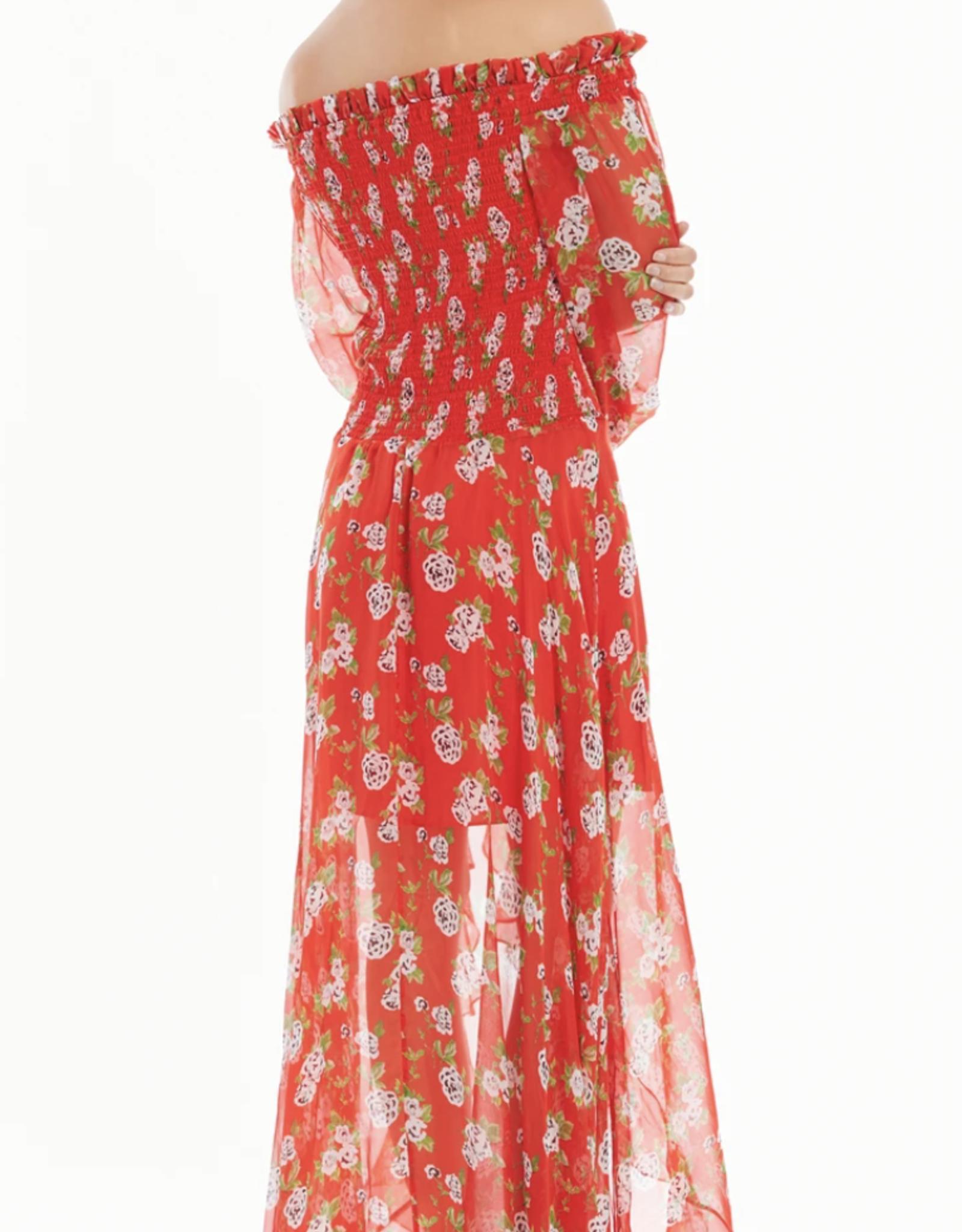 Caroline Constas Ambrosia Gown Red